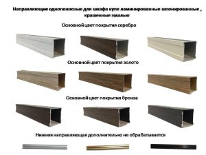 Направляющие однопосные для шкафа купе ламинированные, шпонированные, крашенные эмалью Новошахтинск