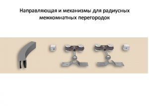 Направляющая и механизмы верхний подвес для радиусных межкомнатных перегородок Новошахтинск